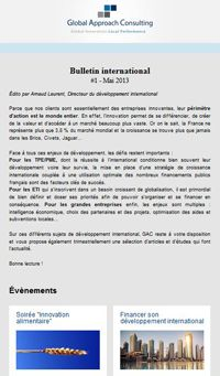 Adhérer au bulletin international - GAC GROUP