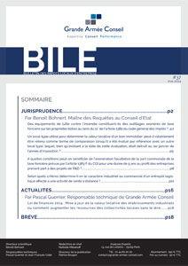 Le Bulletin des Impôts Locaux des Entreprises (BILE) n°37 - GAC GROUP