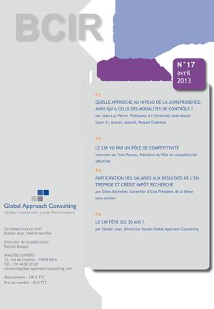 Le Bulletin du Crédit d'Impôt Recherche (BCIR) n°17 - GAC GROUP