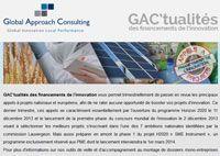 GAC'tualités des financements de l'innovation - GAC GROUP