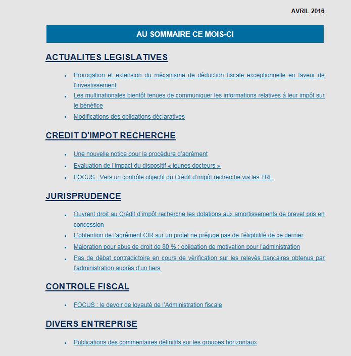 GAC'tualités fiscales – mai 2016 - GAC GROUP