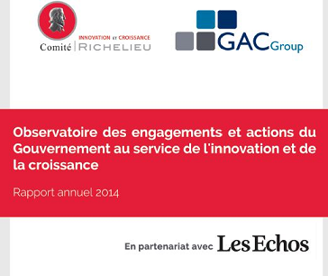 Rapport 2014 de l'Observatoire des actions du Gouvernement en faveur de l'innovation - GAC GROUP