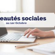 Nouveautés sociales au 1er octobre